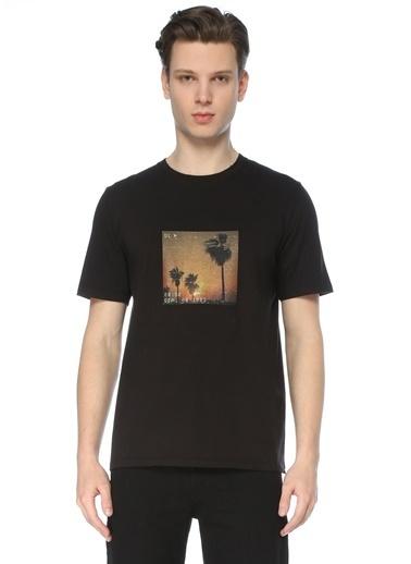 Saint Laurent Saint Laurent  Bisiklet Yaka Baskılı T-shirt 101622186 Siyah